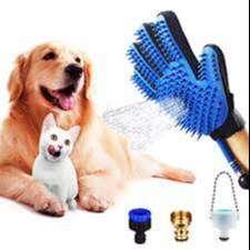 Cepillo Guante Manguera Mascota Baño Perro Gato Ducha Canina