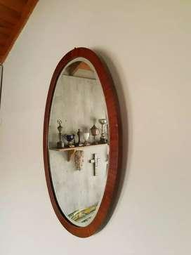 Espejo ovalado biselado