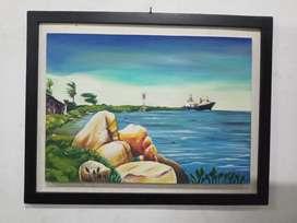 Obra original paisaje bocas de Ceniza