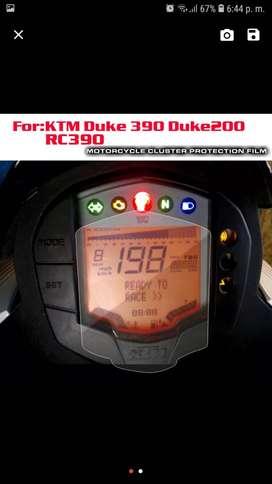 Proctetor para tablero digital de ktm duke 200 o 390