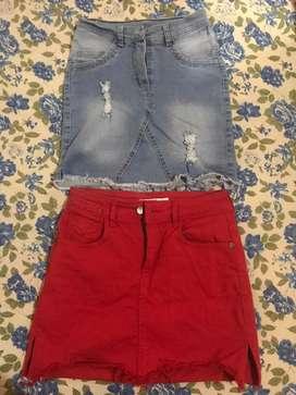 Polleras de jeans