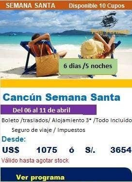 Precio de viaje a Cancún en semana santa 2020