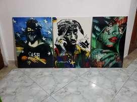 Vendo 3 hermosos cuadros impermeables y exclusivos Pop Art (Nuevos)