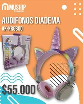Audifonos Diadema AK-KR6800