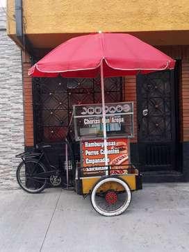 Carro triciclo comidas rápidas