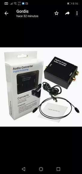 Convertidor de audio óptico a RCA