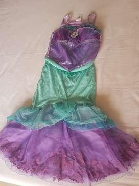 Disfraz Disney Ariel Sirena Talla 8 O 9