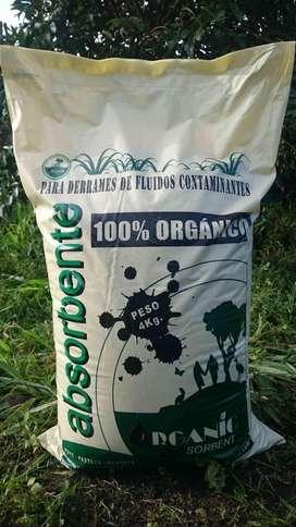 Fibra absorbente Orgánica - Limpieza en seco de hidrocarburos, aceites y grasas - Eliminación de olores.