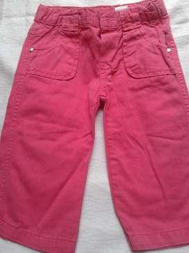 Pantalon Gimos,18m Gabardina Ajusta Elastico Cintura Rojo