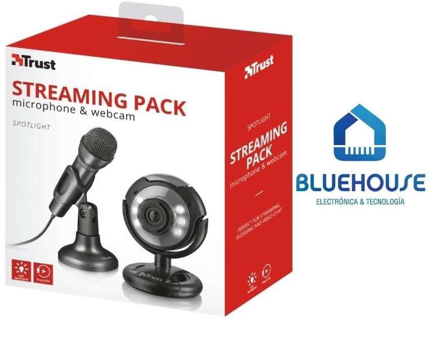 Microfono para pc  Webcam Para Streaming Trust Spotlight 0