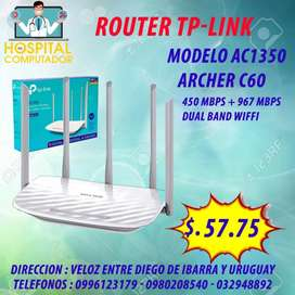 Router TP-LINK 5 ANTENAS AC1350