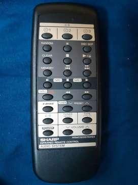 Control remoto sharp RRMCG0057AWSA AUDIO