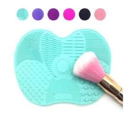 Limpiador de pincel de silicona para maquillaje.