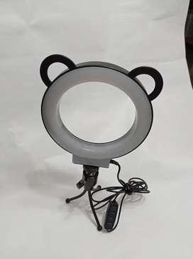 Aro De Luz Led Flash 15 Cm Fotografía Selfie Con Trípode y control de Luz para diferentes tonalidades