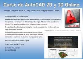 Curso de AutoCAD 2D y 3D Online