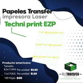 Papel Trasfer techniprin EZP Impresora A Laser, Alltransfe