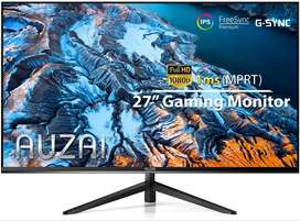 Computer Monitor - 2021 AUZAI 27 Inch 144Hz 1ms IPS Gaming Monitors, FHD 1080P