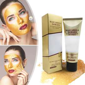 Mascarilla Limpieza Facial Dorada Antiarrugas Remueve Acné Puntos Negros RF CC01