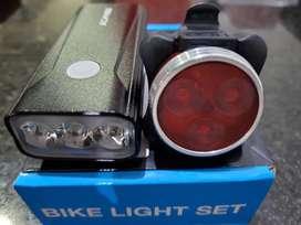 Lámpara bicicleta, luz de 1200 lúmenes, 6400 mAh, juego de luces delantero y trasero
