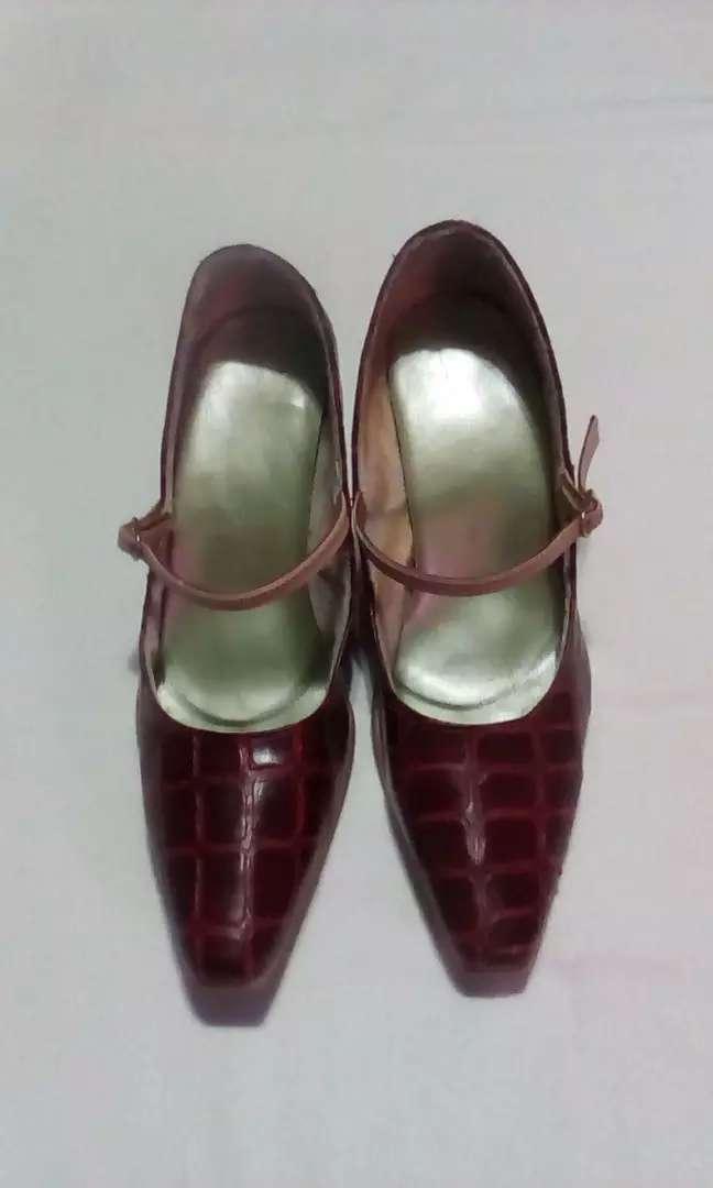 Zapato ecocuero croco 0