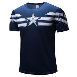 Camisetas Capitan America Impresion 3 D