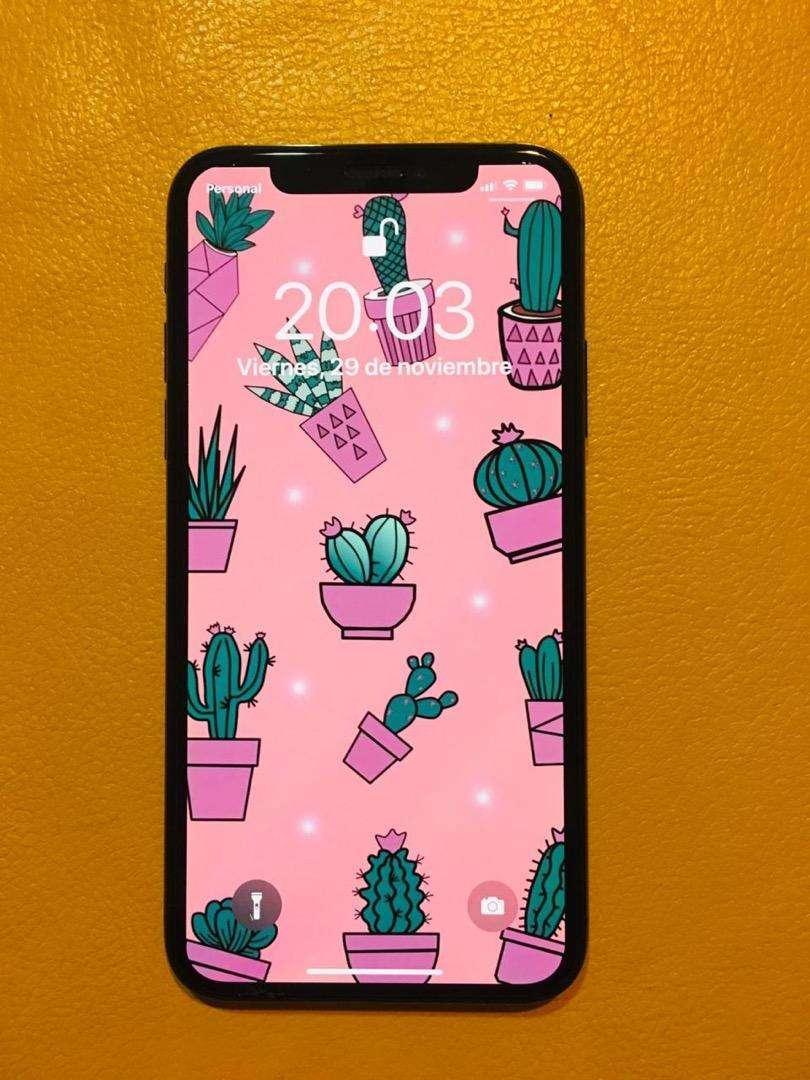 Iphone X 64 gb ; estado 10/10 año de uso ; entrego con cargador 0