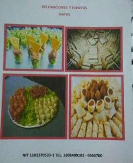 Deliciosos pasabocas y comidas especiales