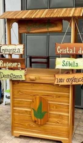 Vendo kiosko de madera