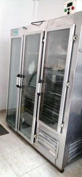 vertical de congelacion por aire forzado
