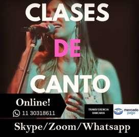 CLASES DE CANTO ONLINE