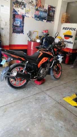 Vendo moto ronco pantera 150R 2020