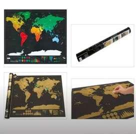 Mapa mundial para raspar, Decoración