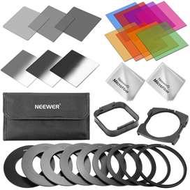 Kit 6 Filtros Nd + 8 Filtros Color Marca Neewer + Accesorio