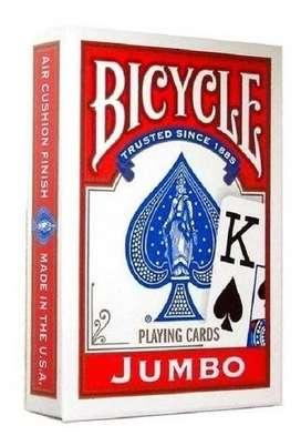Naipes Para Poker Bicycle Jumbo Index Playing Cards Rojos