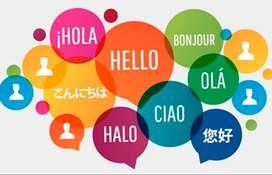 Clases de inglés, portugués, italiano y francés.