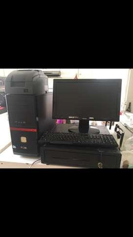 Computadora con impresora y cajon