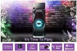 Sony MHCV4D Mini Componente, Bluetooth, 720W RMS, USB, Karaoke, Negro