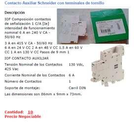 Contacto Auxiliar Schneider A9A26924 Riel DIN