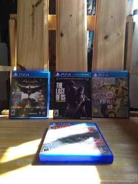Vendo juegos Play 4