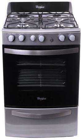 Cocina Whirlpool acero inox. (SIN USO). Modelo WFX 56X