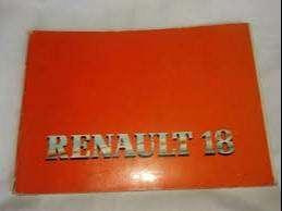 Manual Renault 18 Gtx Uso Mantenimiento Ano 85 De Coleccion