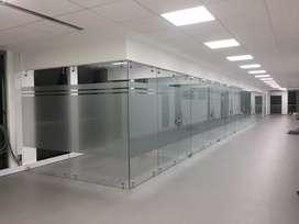 3daluminio Divisiones de Oficina en vidrio, aluminio y acero en Madrid, Mosquera, Funza y Bogota