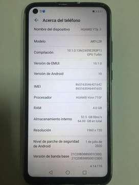 Vendo Equipo Celular Huawei Y7p en perfectas condiciones