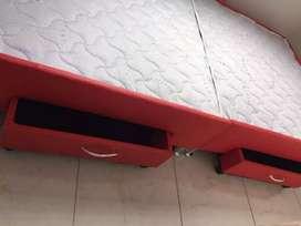 Somier dividido con cajones grandes cama doble