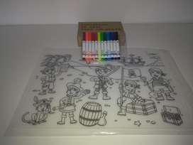 Individual de Mesa para Colorear