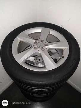 Rin 17 y llantas Bridgestone originales de Mercedes Benz