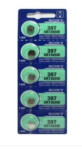 Pila Batería Sony 397 (sr726sw) 1.55v Original Pack X 5