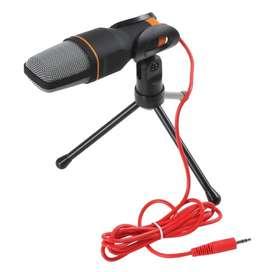 Micrófono Condensador Con Trípode Para Computador Y Celular