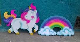 Arco Iris Unicornios Icopor en 2d