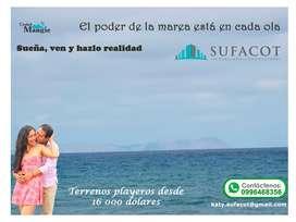Últimos 25 terrenos en venta, Urbanización privada frente al mar en la provincia de Manabí SD2